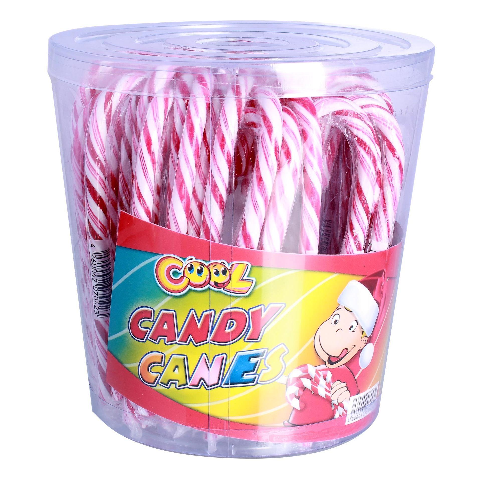 Cool Candy Canes - Zuckerstangen Rot-Weiß Lollies Lutscher Lutschstangen gestreift - 50St/700g