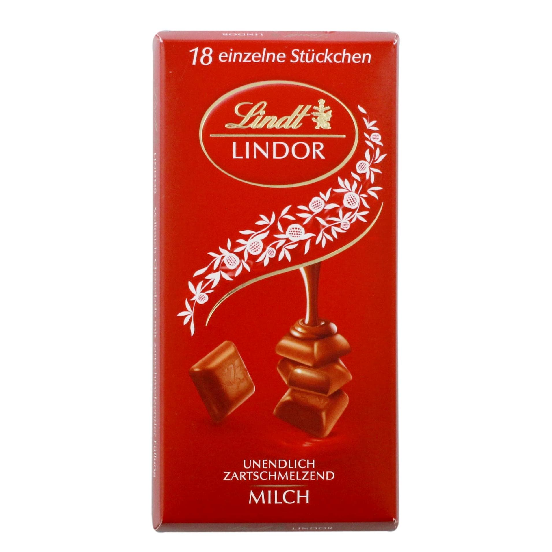Lindt - Lindor Vollmilch Schokolade Pralinen Stückchen - 18St/100g