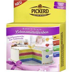 Pickerd - Bake'n'Style Lebensmittelfarben - 4St/32g