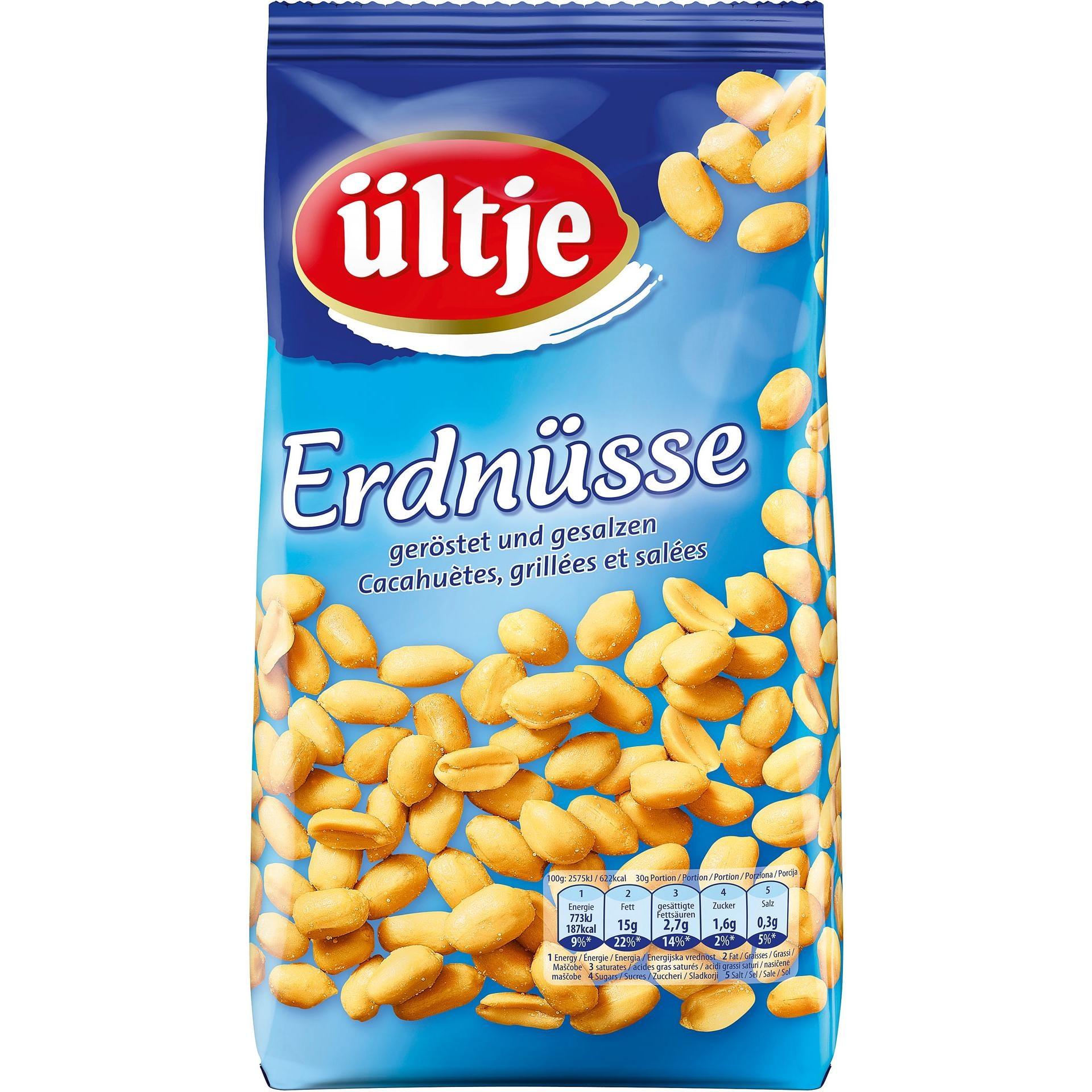 Ültje - Erdnüsse geröstet und gesalzen Nüsse Snack - 1kg