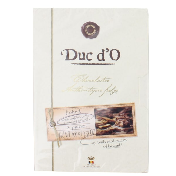 Duc d'O - flaked milk truffles with crunchy biscuit Trüffel - 100g