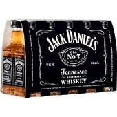 Jack Daniel's Tennessee Straight Bourbon Whiskey 10x0,05l