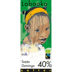 Zotter Bio Labooko 40% Santo Domingo Fairtrade Schokolade 70g