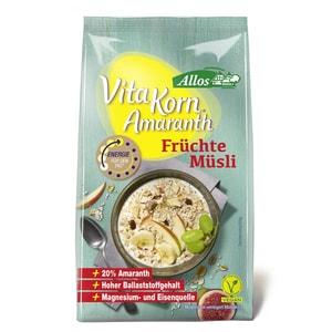 Allos Bio Vita Korn Amaranth Früchte Müsli 375g