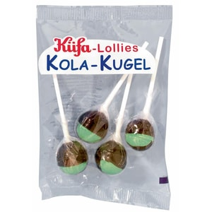 Küfa Kola-Kugel Lollies 4 Stück, 60g
