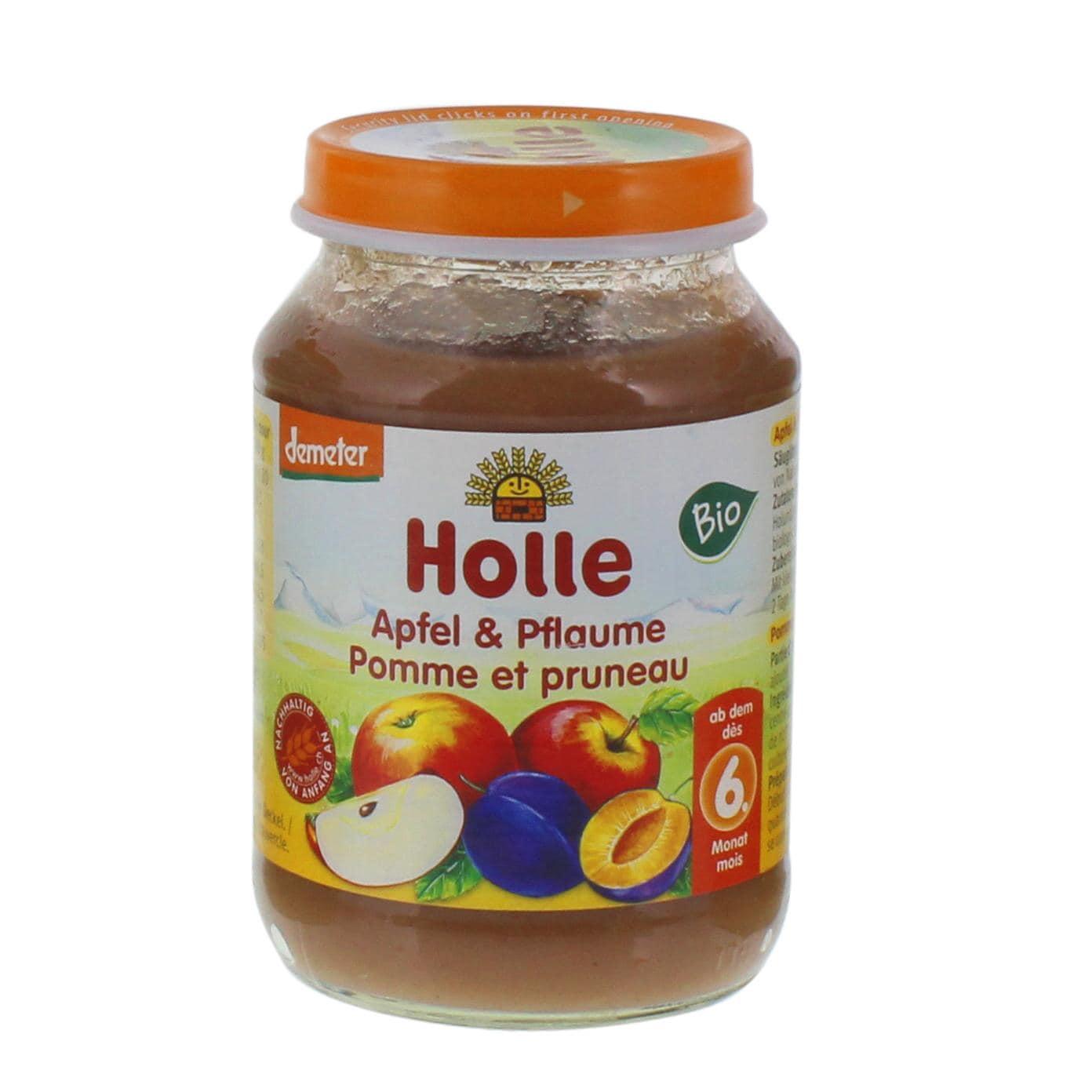 Holle Apfel und Pflaume Bio Babybrei 190g