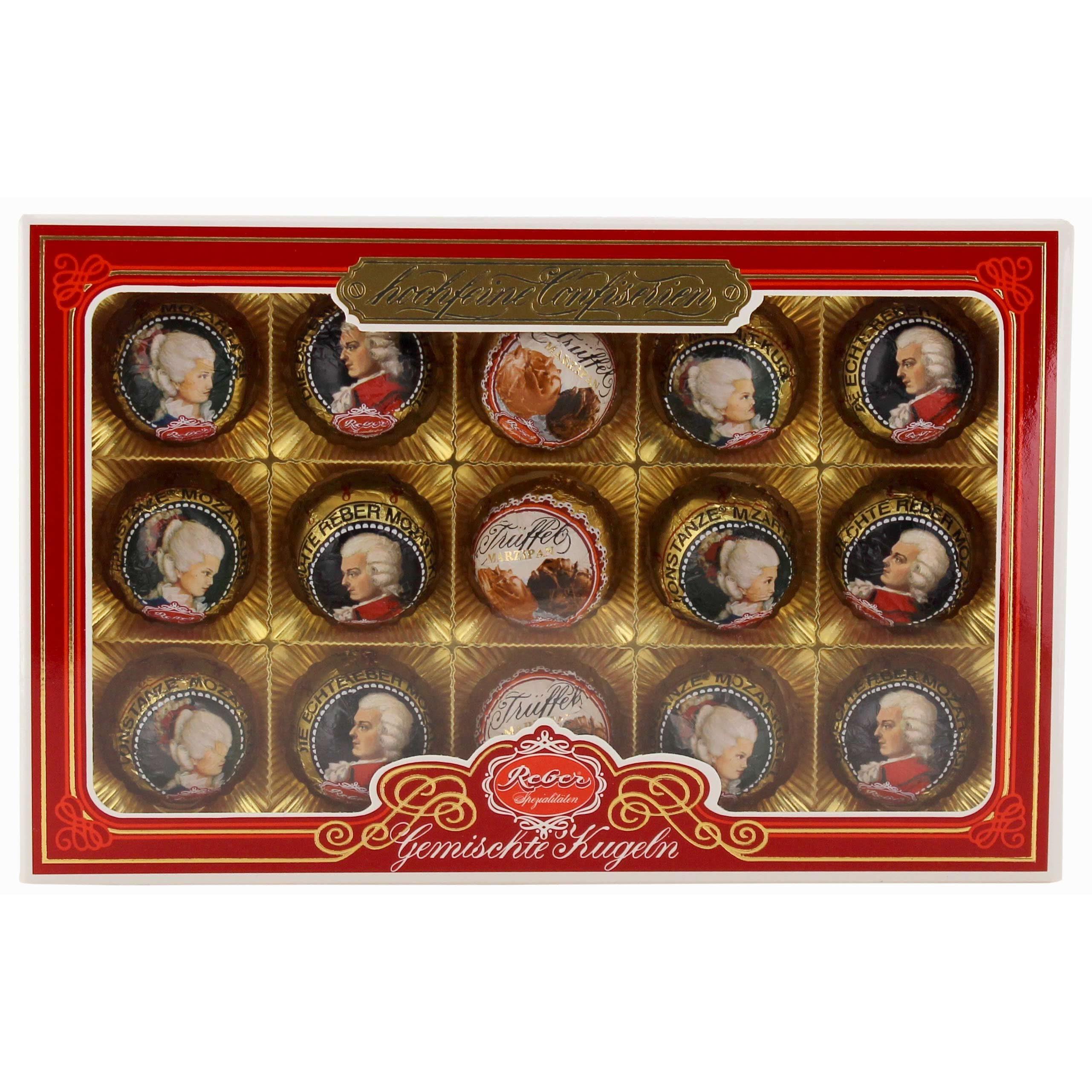 Reber - Mozart Kugeln Schokolade Pralinen Nougat Pistazien - 300g