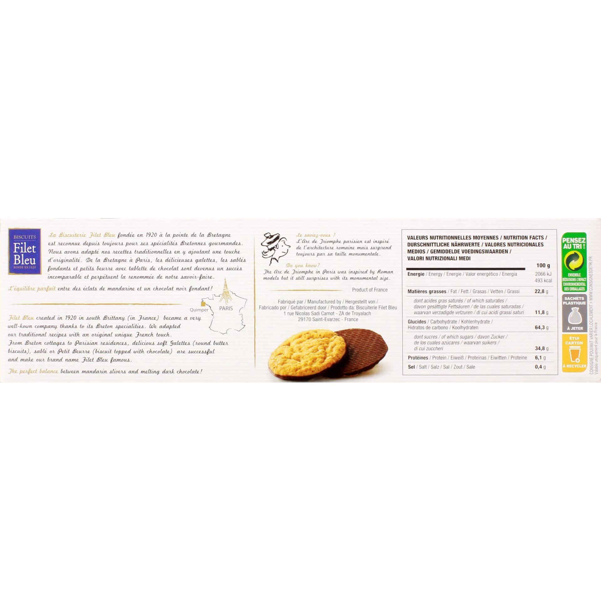 Filet Bleu - Délice Mandarine Kekse - 130g