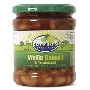 Marschland Naturkost Bio Weiße Bohnen in Tomatensauce 350g
