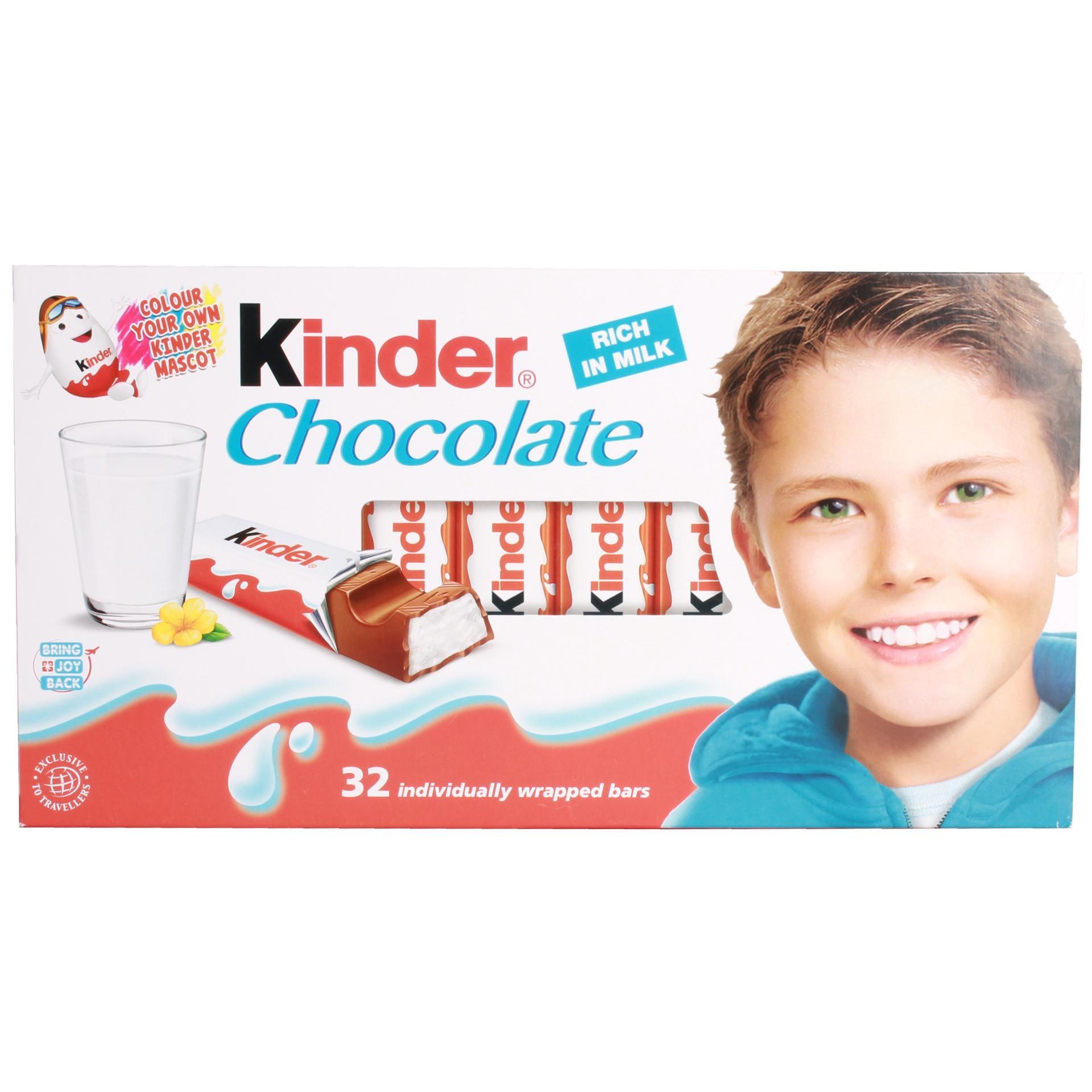Ferrero - Kinder Chocolate Big Box Schokolade Schokoladenriegel - 32er/400g