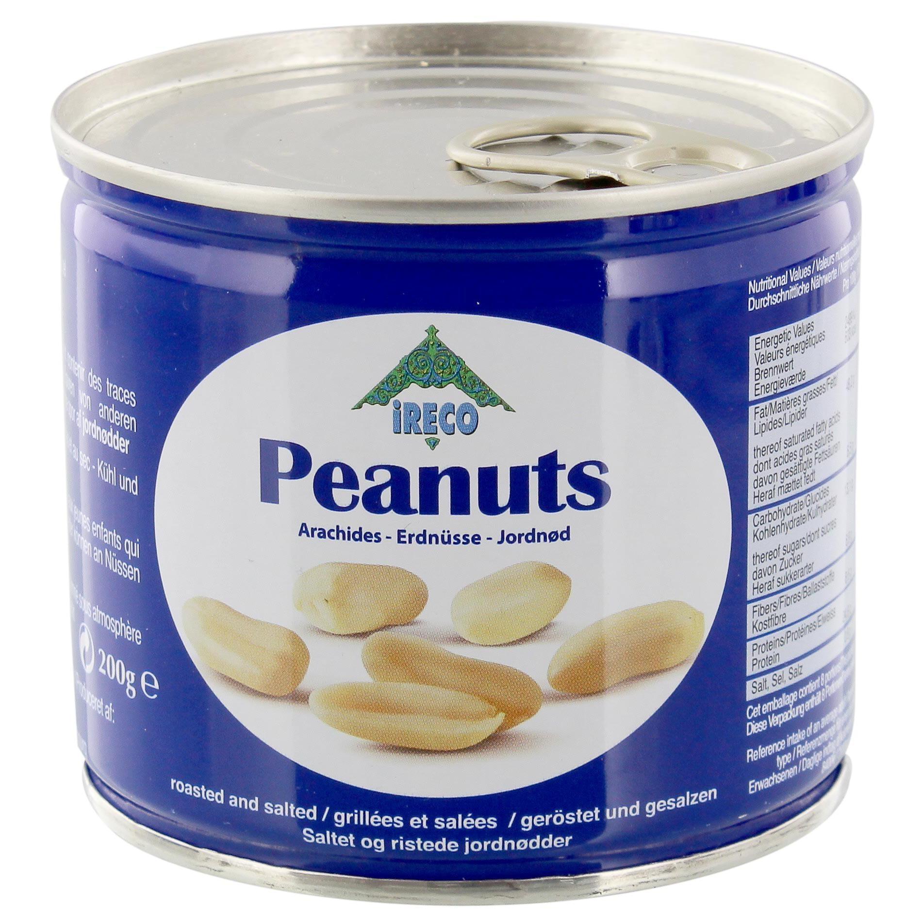 Ireco - Erdnüsse geröstet und gesalzen - 200g
