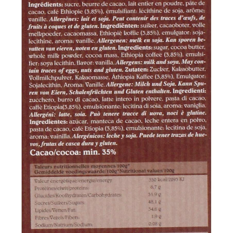 Café-Tasse - Terres Rouges Schokolade - 85g