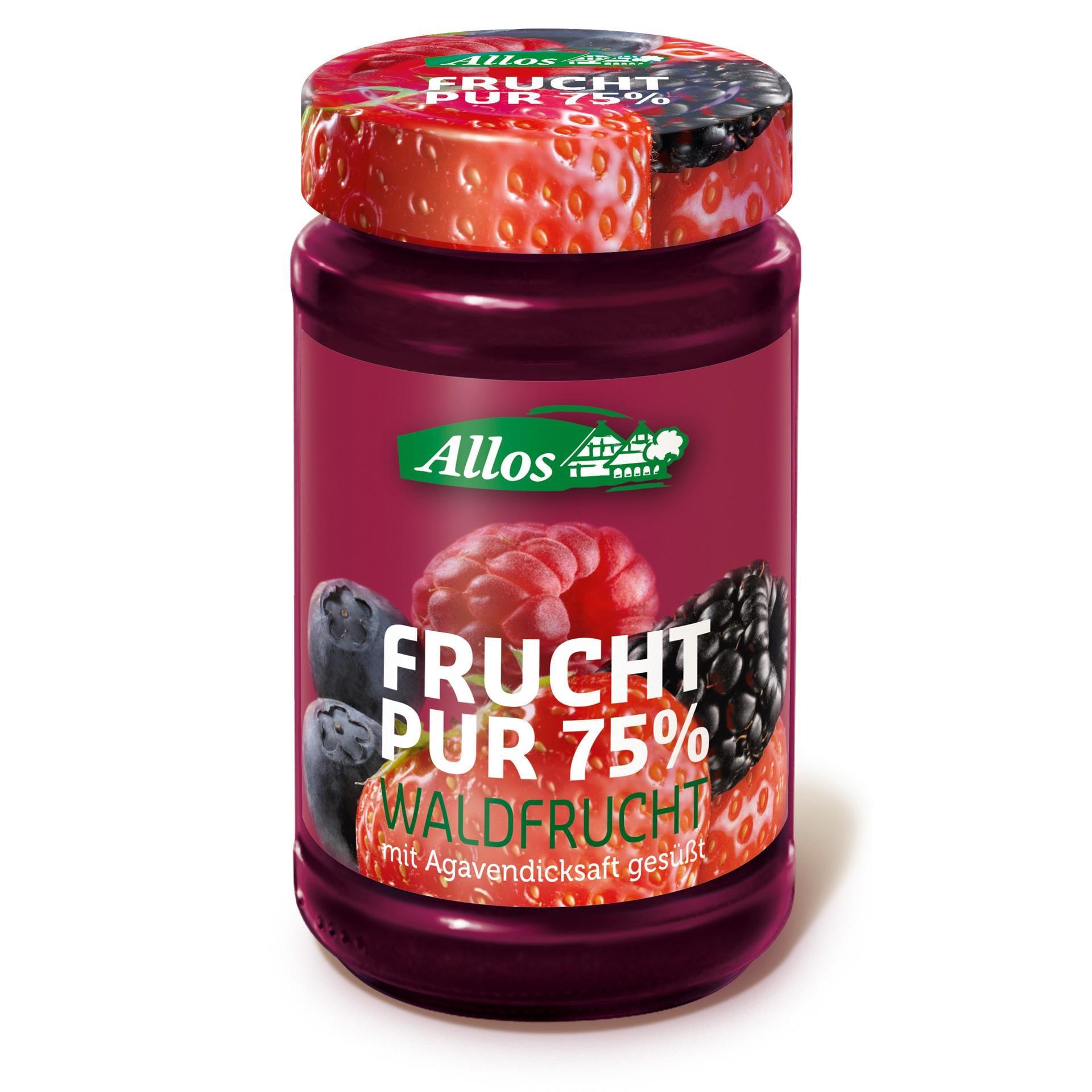 Allos Bio Frucht Pur 75% Waldfrucht Fruchtaufstrich 250g