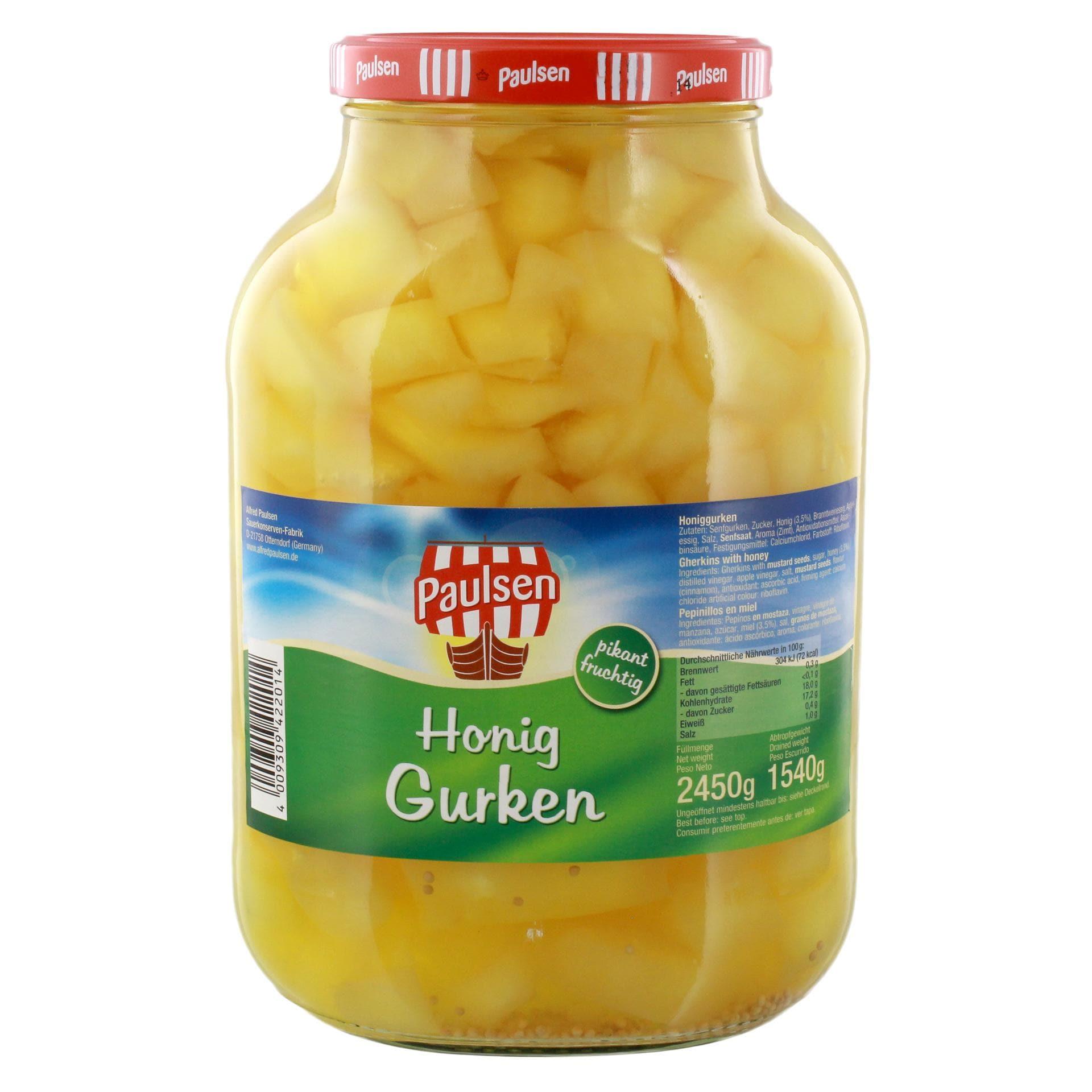 Paulsen Honig-Gurken eingelegt 1,54kg