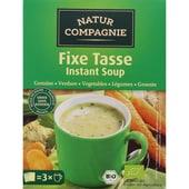 Natur Compagnie Bio Fixe Tasse Instant Soup Gemüse 54g, 3 Stück