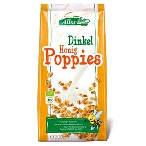 Allos Bio Dinkel Honig Poppies Flakes 300g