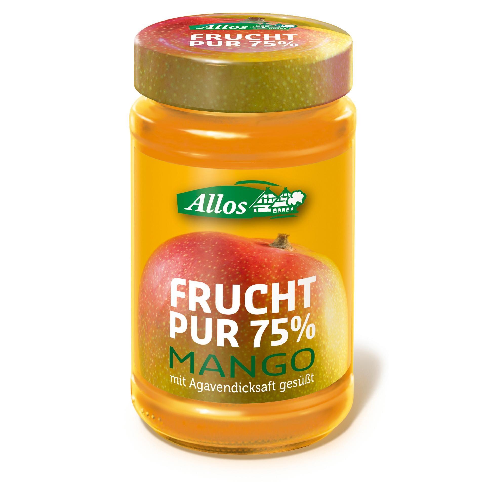 Allos Bio Frucht Pur 75% Mango Fruchtaufstrich 250g