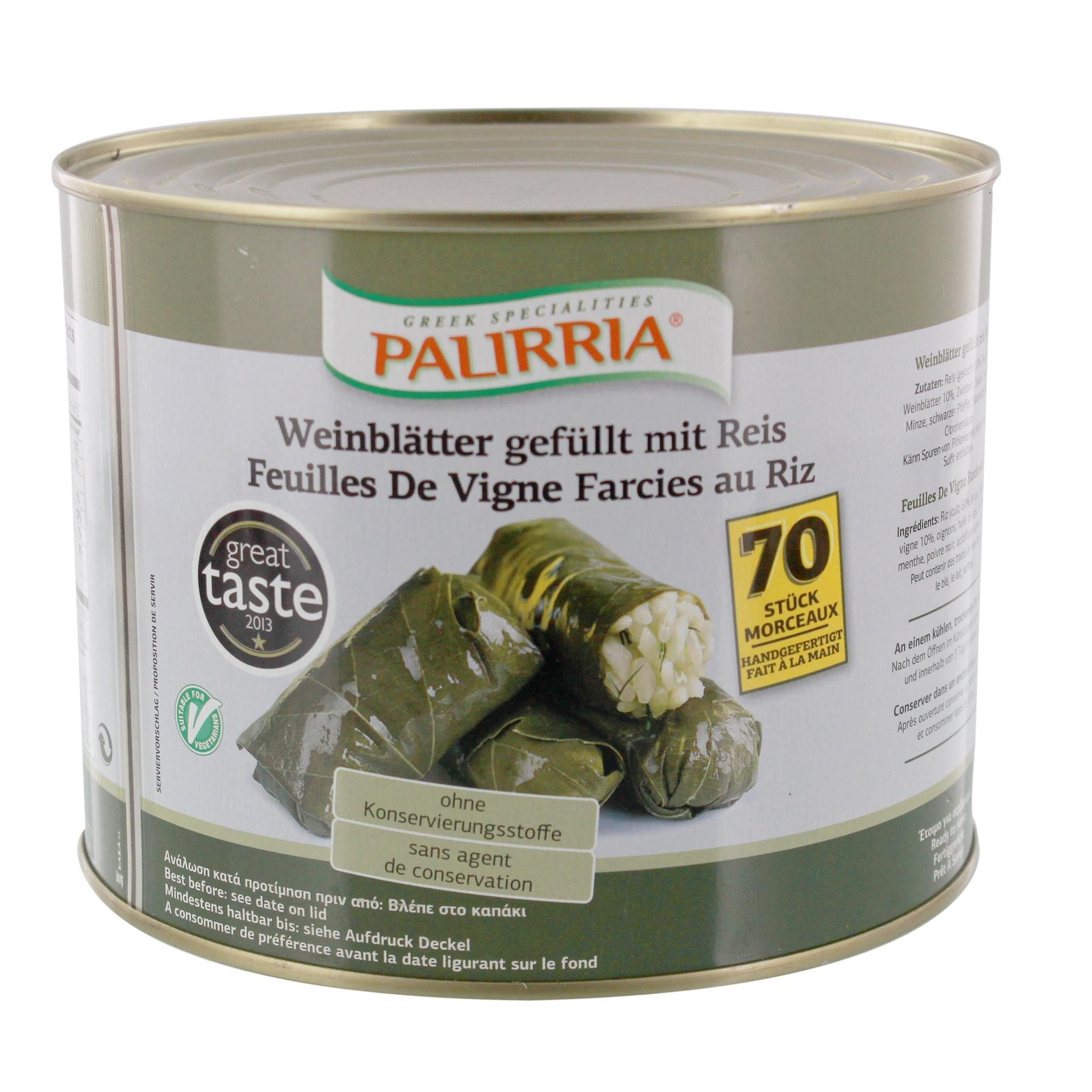 Palirria Weinblätter gefüllt mit Reis 2,1kg