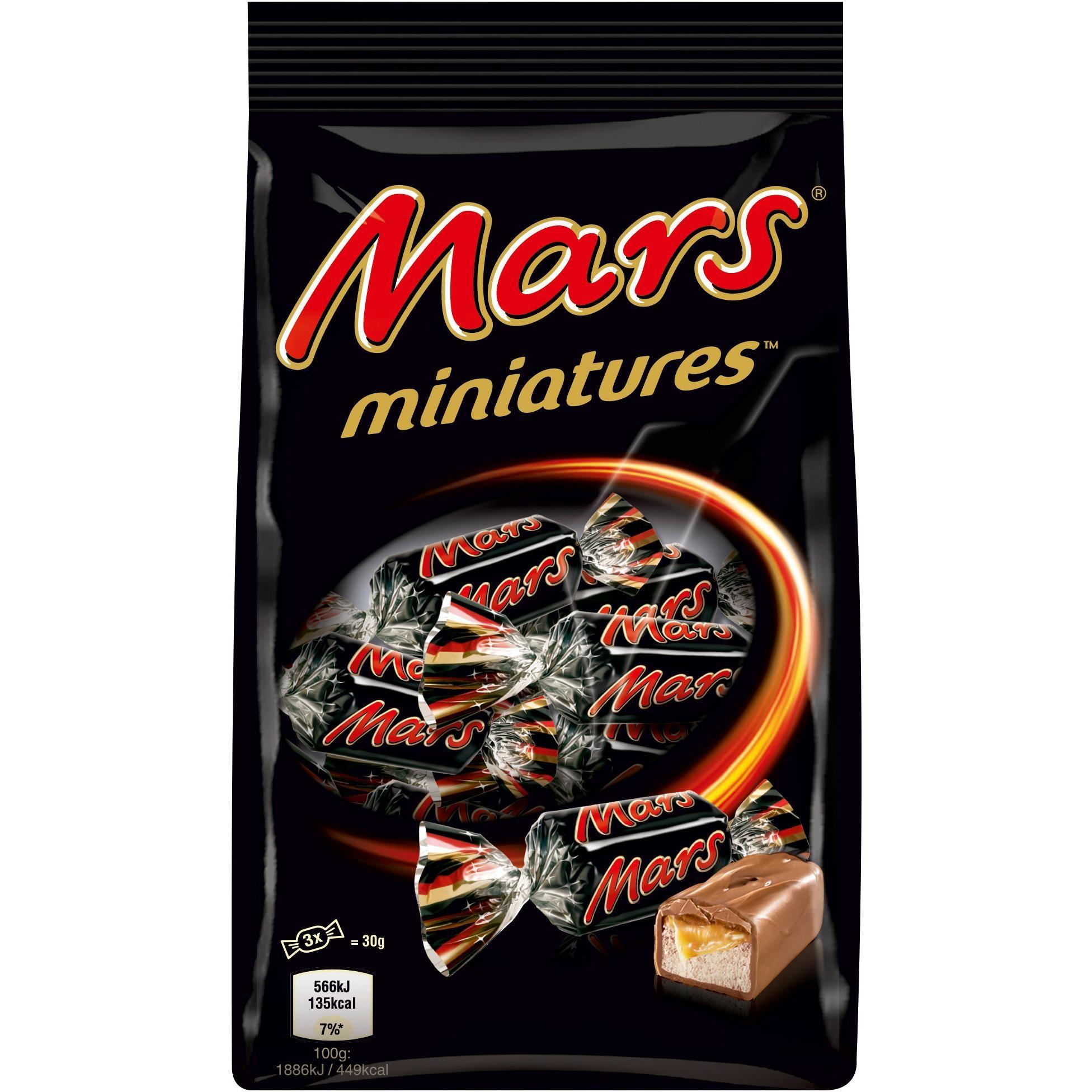 Mars - Miniatures Mini-Schokoladen-Riegel Karamell-Riegel 150g