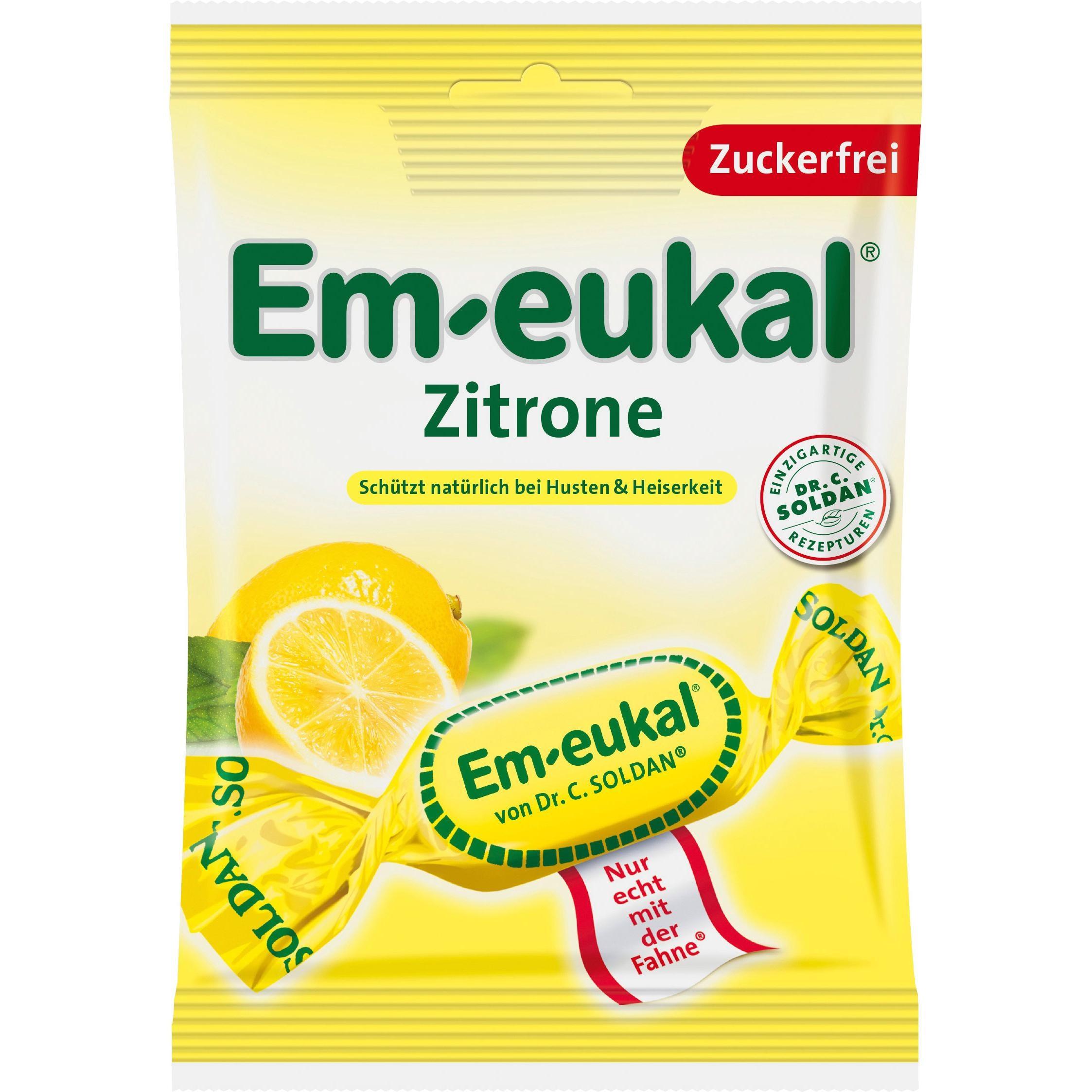 Dr. Soldan Em-eukal - Zitrone zuckerfrei Hustenbonbons - 75g