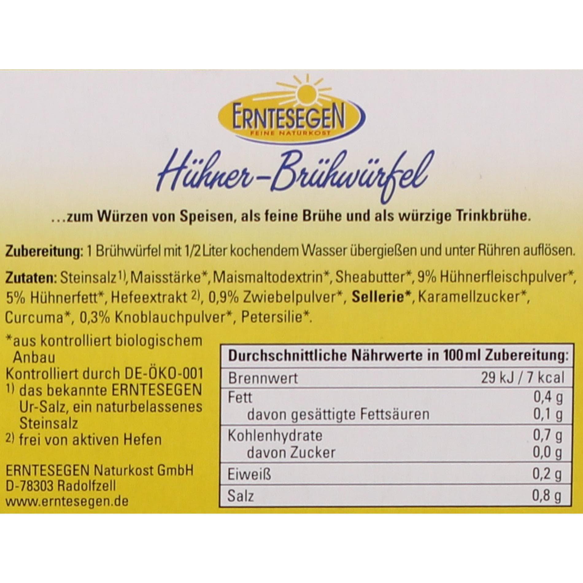 Erntesegen Bio-Hühner-Brühwürfel 66g