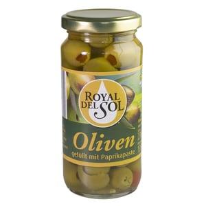 Royal Del Sol Oliven grün mit Paprika 135g/230g