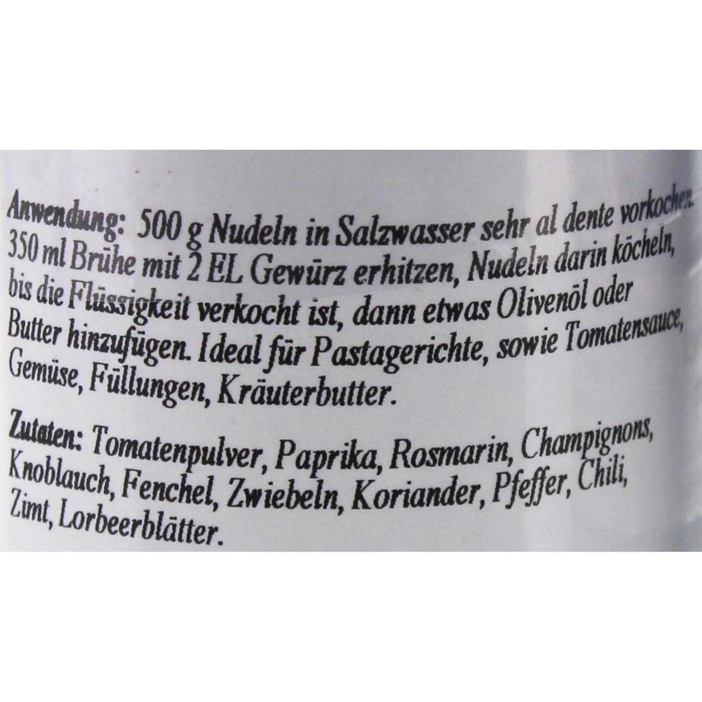Schuhbecks - Gewürzmischung Toskanisches Nudelgewürz - 50g
