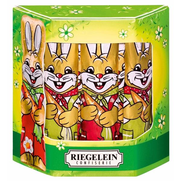 Riegelein Osterhasen massiv Schokolade 125g, 10 Stück