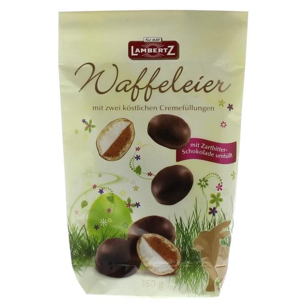 Lambertz Waffeleier doppelt gefüllt mit Zartbitterschokolade 150g