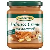 BioGourmet Bio Erdnuss Creme mit Karamell Schokoaufstrich 250g