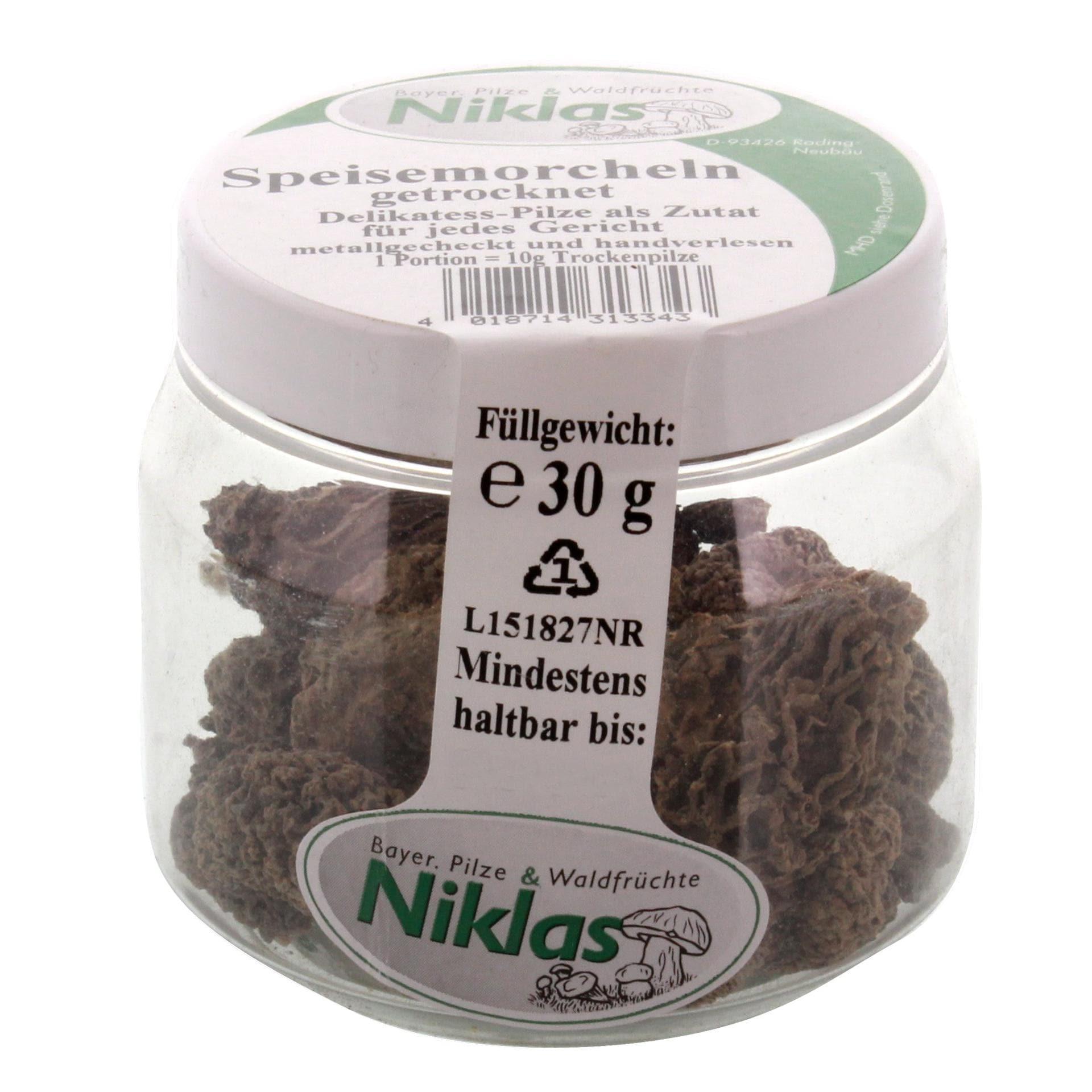 Niklas - Speisemorcheln getrocknet - 30g