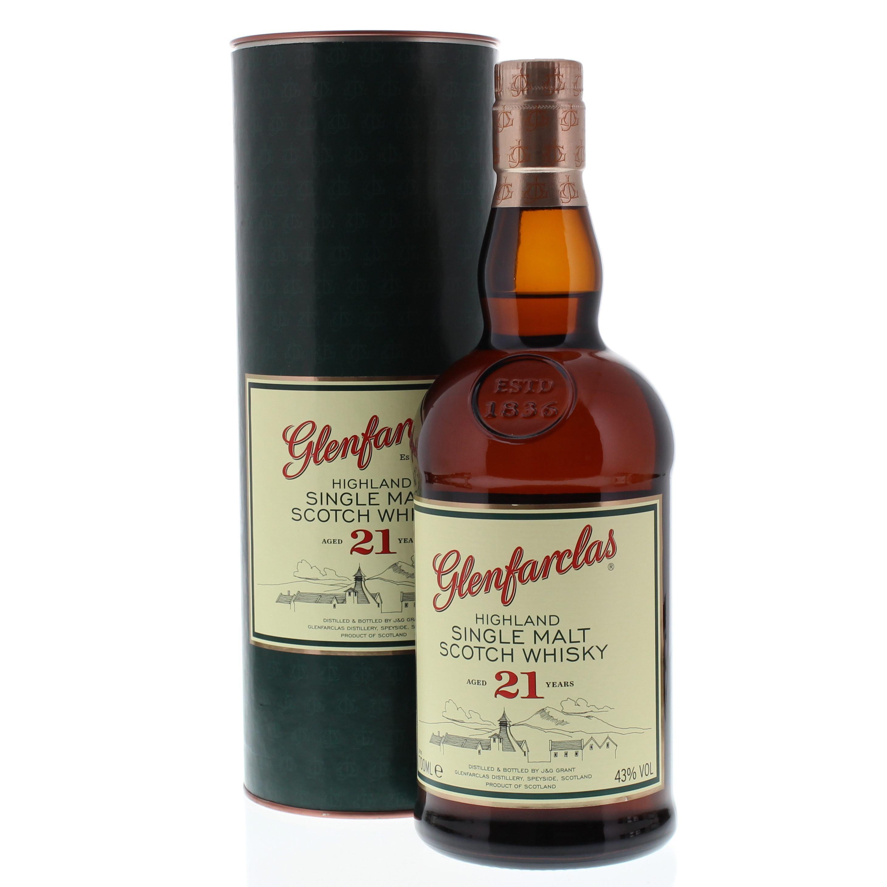 Glenfarclas Highland Single Malt Scotch Whisky 21 Jahre 0,7l