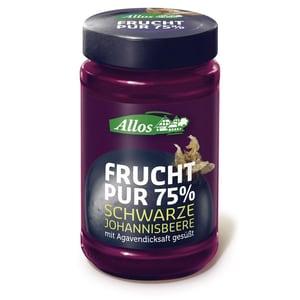 Allos Bio Frucht Pur 75% Schwarze Johannisbeere Fruchtaufstrich 250g