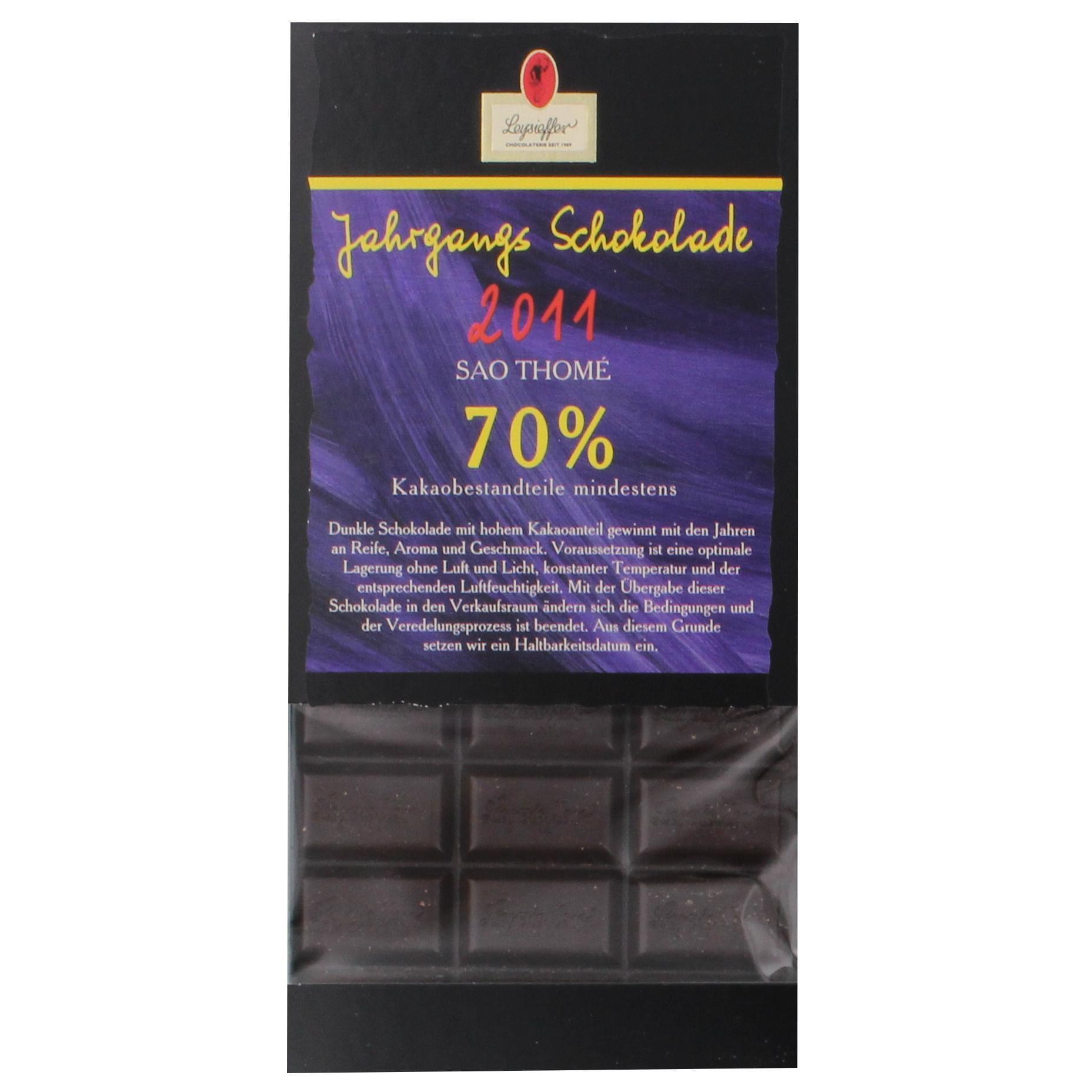 Leysieffer Jahrgangs Schokolade 2015 Sao Tomé 70% 100g