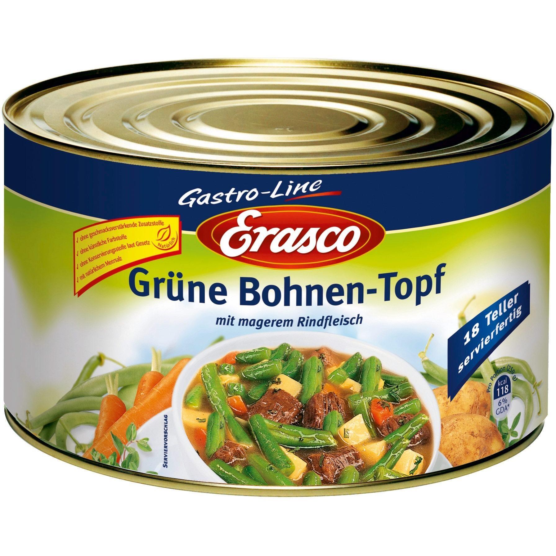 Erasco - Grüne Bohnen-Topf - 4,5kg
