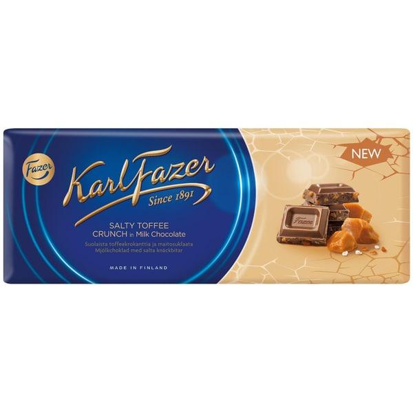 Fazer - Milchschokolade mit salzigem Toffee-Krokant Tafel - 250g