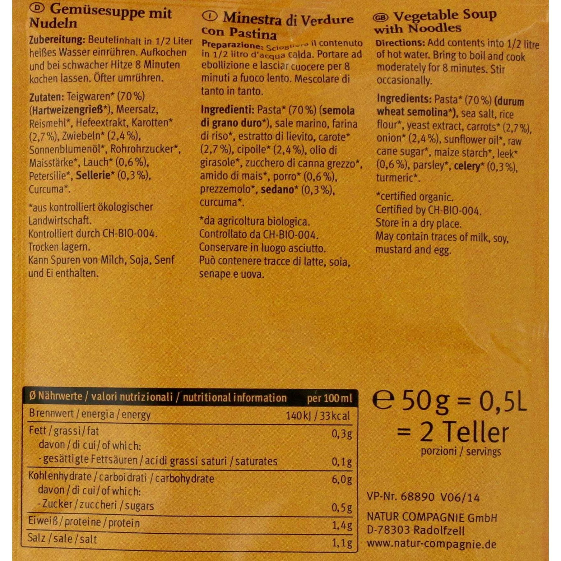 Nature Compagnie Bio Buchstabensuppe 50g für 500ml