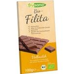 Frusano Bio-Filita Vollmilch Tafelschokolade laktosefrei 100g