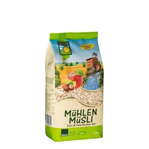 Bohlsener Mühle Bio Mühlen Müsli Zart & Fein Bircher Art ohne Weizen 500g