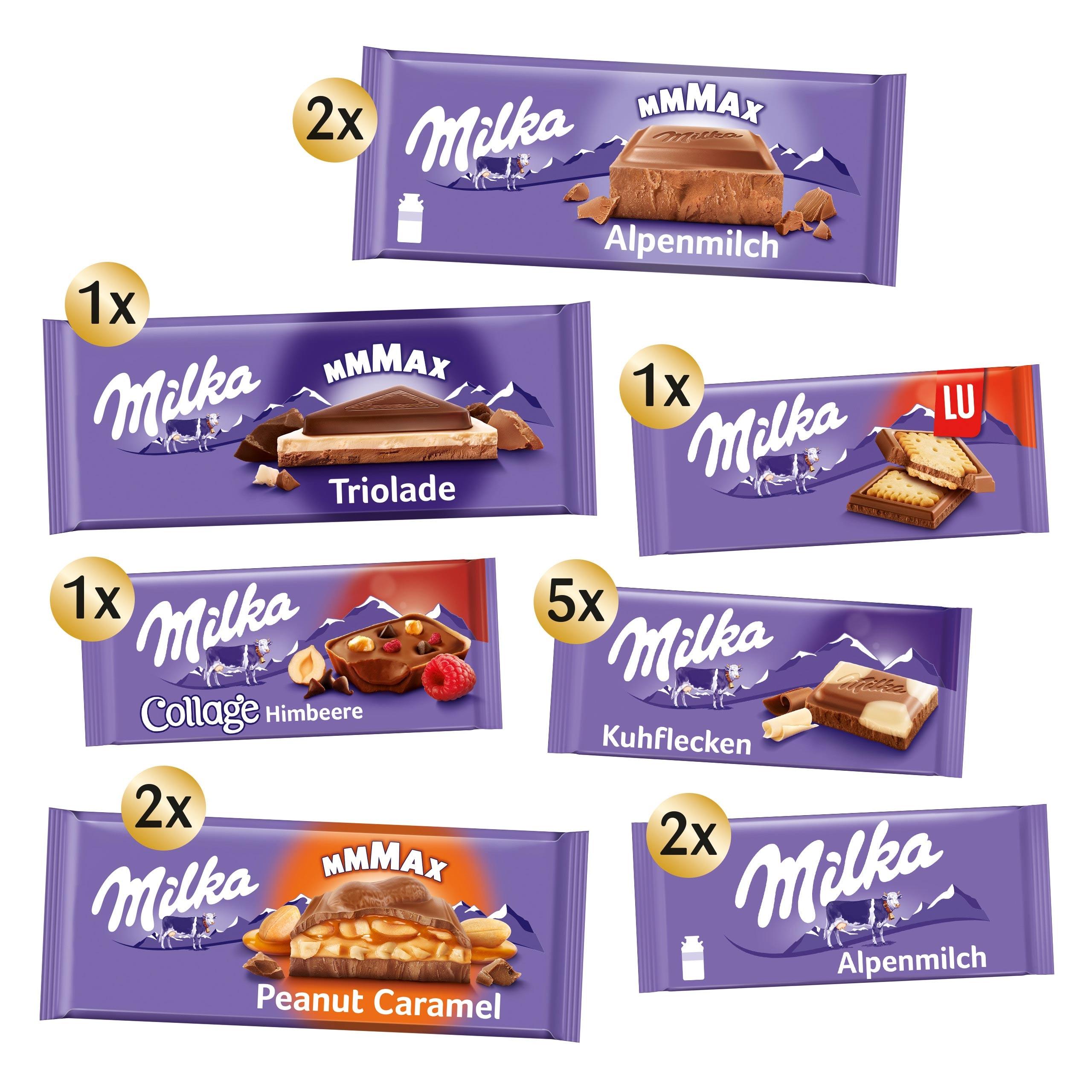 Milka Schokoladen Haus Zum Selberbasteln Bastelset 16 Teilige Box