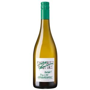 """Weingut Emil Bauer """"Pinot Grigio, Pinot Gris"""" Bullshit! Drink a real Grauburgunder Weißwein trocken 12,5% 0,75l"""