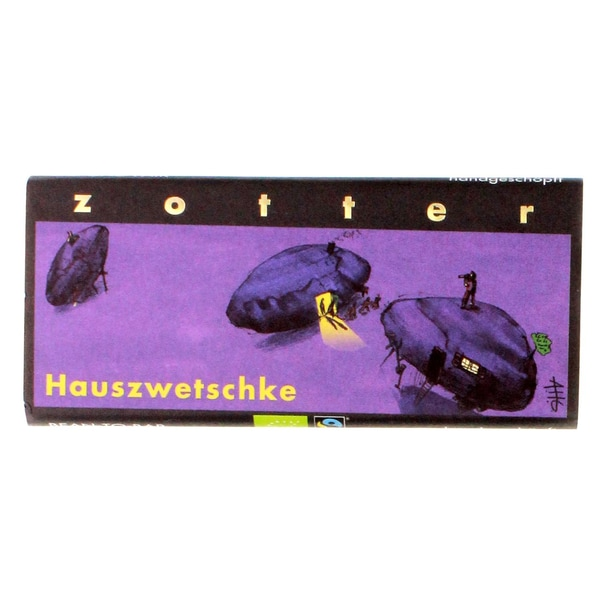 Zotter Bio Hauszwetschke Schokolade Fairtrade 70g
