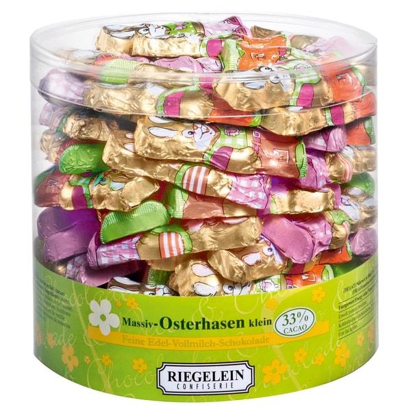 Riegelein Massiv-Osterhasen klein Vollmilch-Schokolade 525g, 70 Stück