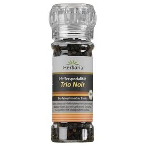 Herbaria Bio Trio Noir schwarzer Pfeffer Mühle 50g