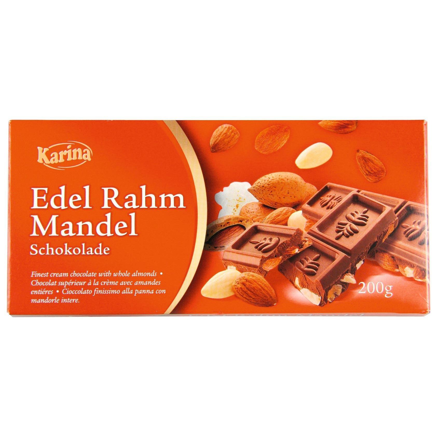 Karina - Edelrahm Mandel Schokolade - 200g