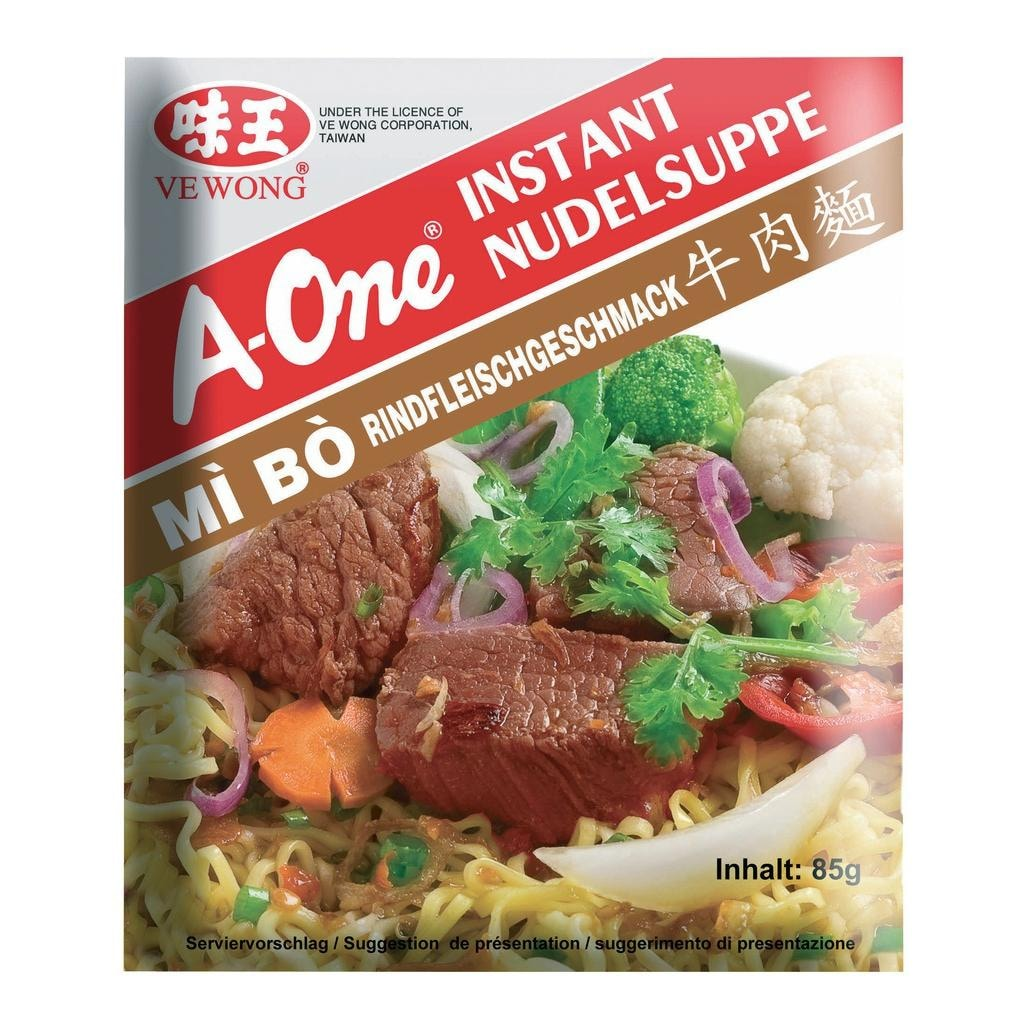 A-One - Instantnudelsuppe Rind - 85g