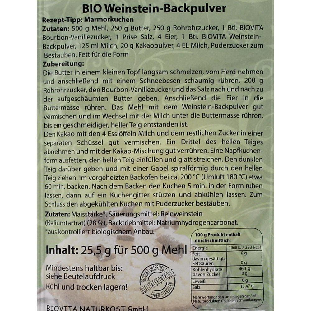 Biovita Bio Weinstein Backpulver 25,5g