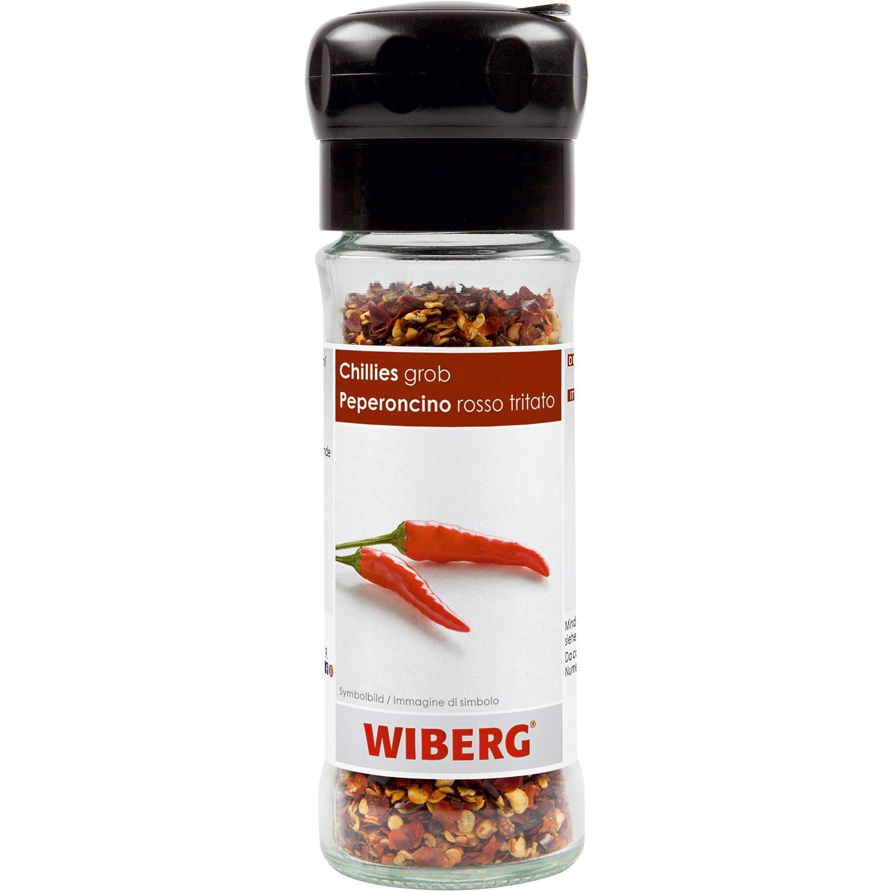 Wiberg - Chillies geschrotet Mühle rot Gewürz Schärfe - 35g