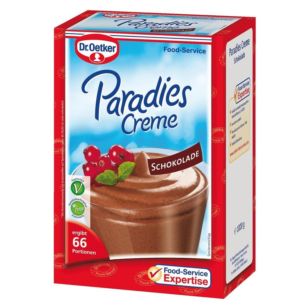 Dr.Oetker Paradiescreme Schokolade - Dessertpulver - 1kg