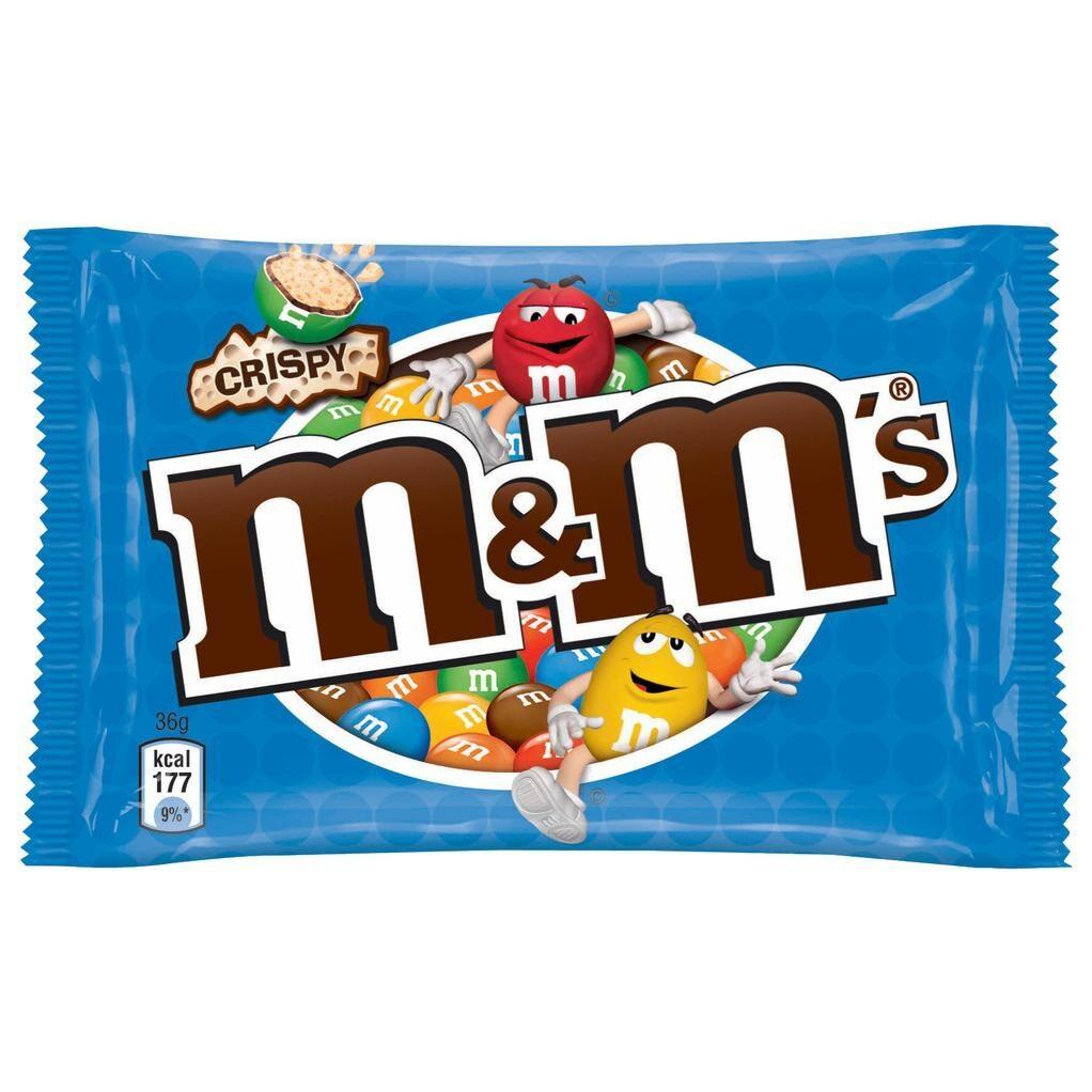 m&m's - Schokolinsen crispy - 36g